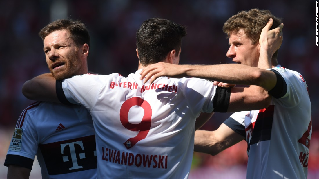 Bayern doubled its advantage shortly after, with Lewandowski on target again. The Bavarians would go on to win the match 2-1 and secure the Bundesliga title for the fourth year in succession.