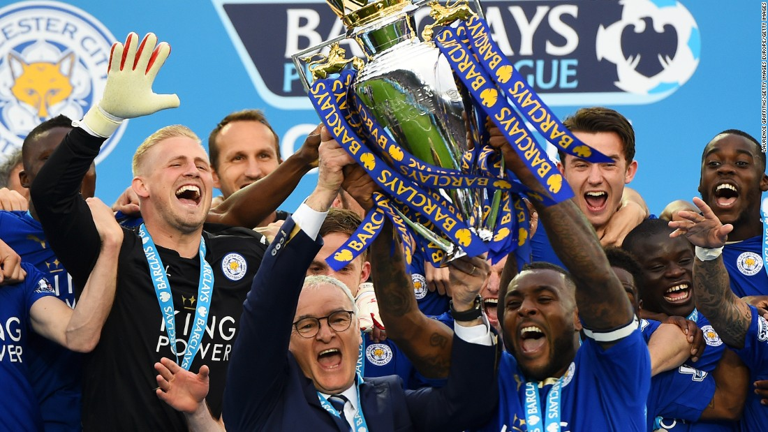 However, the highlight of the day came as captain Wes Morgan lifted the EPL title alongside Ranieri.