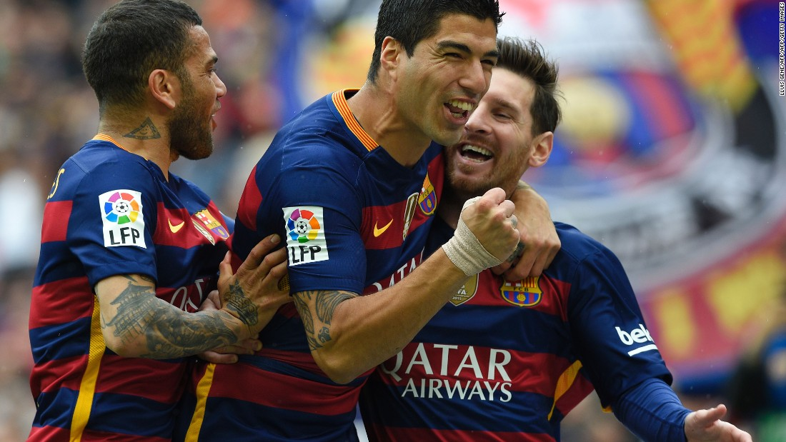 Barcelona would go on to defeat its cross-town rivals 5-0 and ensure that a victory against Granada on Saturday will secure the La Liga title.