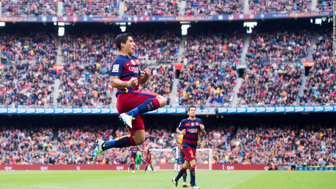 Top scorer Luis Suarez was on the mark twice for the reigning Spanish champions.