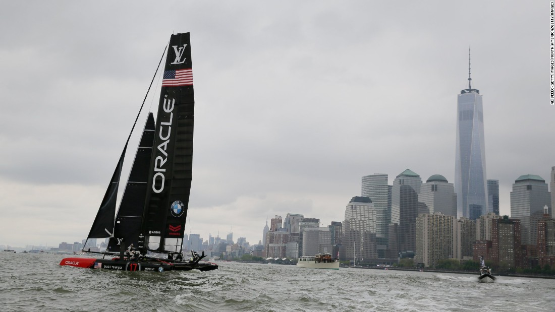 The America's Cup returned to New York City and the Hudson River for the first time since 1920 this weekend.