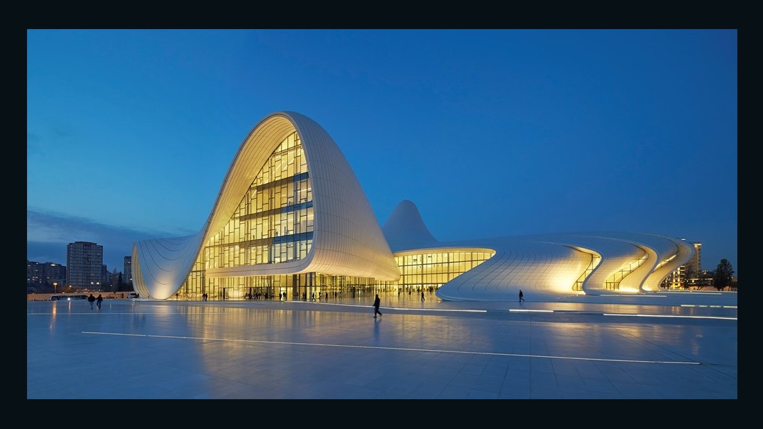 With her fluid design for the Heydar Aliyev Cultural Center, Hadid hoped to move away from the rigidity that defined Azerbaijan when it was part of the USSR.