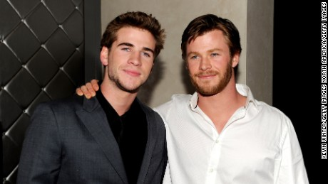 Actor Liam Hemsworth (L) and his brother Chris Hemsworth both appeared in 'Neighbours'.