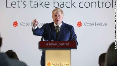 British lawmaker Boris Johnson makes his case for leaving the EU Monday.