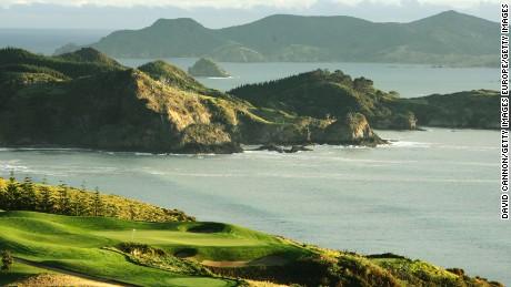 7th hole, Kauri Cliffs, New Zealand.