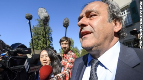 UEFA's fallen chief Michel Platini leaves the Court of Arbitration for Sport (CAS) after his appeal hearing against his six-year FIFA ban for ethics violations, on April 29, 2016 in Lausanne.  CAS will rule on Michel Platini's appeal against his six-year FIFA ban by May 9, the head of the Lausanne-based tribunal Mathieu Reeb said on April 29.  / AFP / FABRICE COFFRINI        (Photo credit should read FABRICE COFFRINI/AFP/Getty Images)
