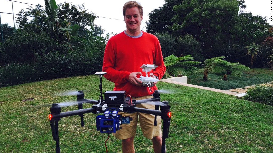 "The founders have big plans for the device. ""Eventually you will have the drones working away in the warehouses at night when everybody is asleep, as a real drone, as the name suggest,"" says Craig Leppan, co-founder of Drone Scan, pictured."