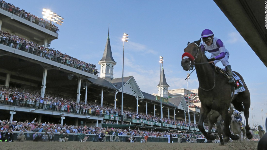 "Nyquist, ridden by Mario Gutierrez, wins the Kentucky Derby on Saturday, May 7. The horse, named after pro hockey player Gustav Nyquist, was a heavy favorite before the race. <a href=""http://www.cnn.com/2016/05/07/horseracing/kentucky-derby/"" target=""_blank"">He is 8-0 in his career.</a> <a href=""http://edition.cnn.com/2016/05/07/horseracing/kentucky-derby/index.html"">READ MORE: Favorite Nyquist wins Derby</a>"