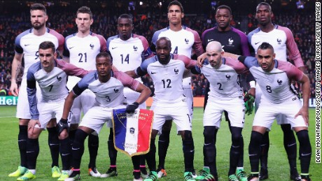 France's squad today features promising talents such as Juventus midfielder Paul Pogba (top right).