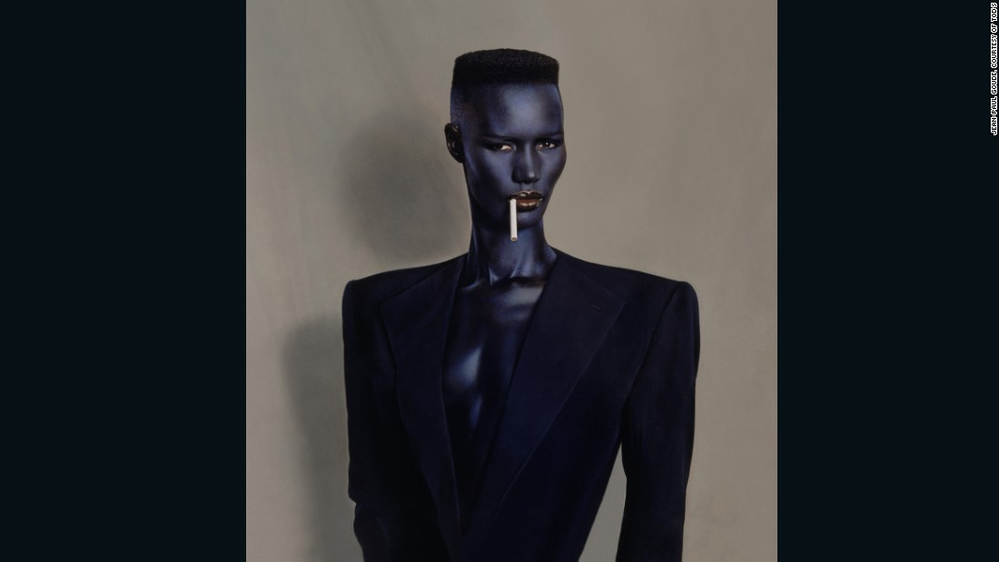 Blue Black In Black On Brown, by Jean Paul Goude, New York, 1981