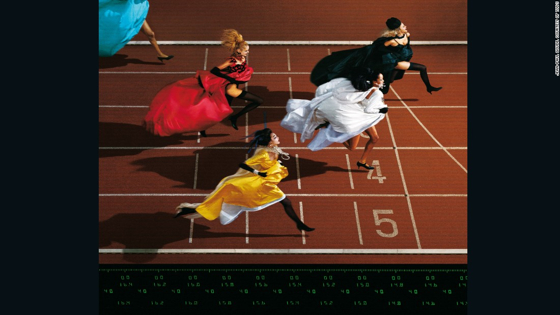 Fashion And Sport Running, by Jean Paul Goude, 1996