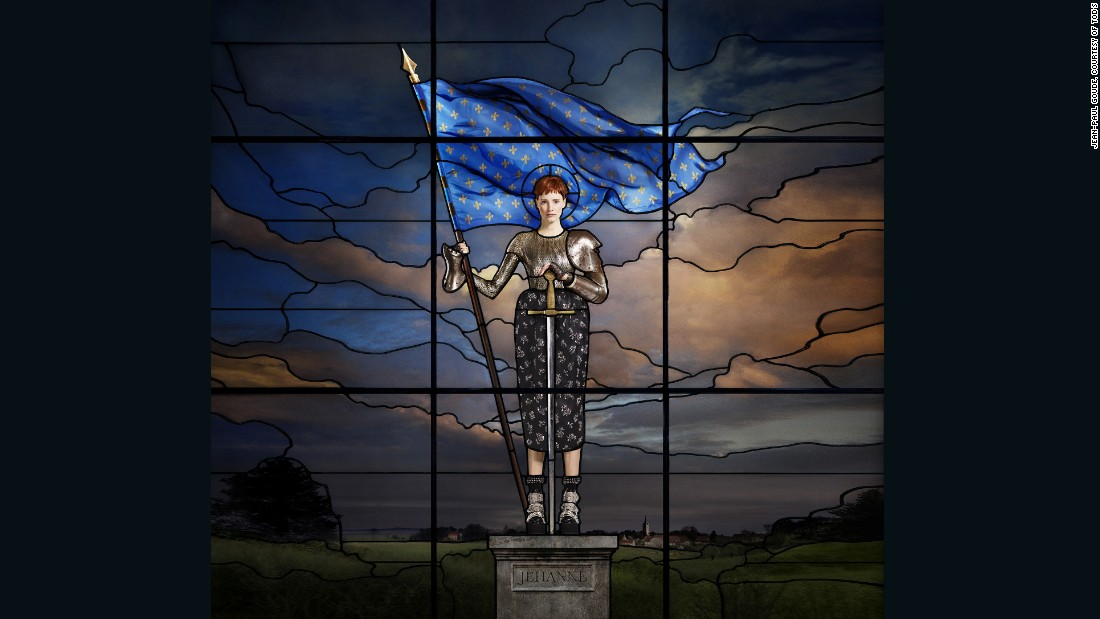 Jessica Chastain As Joan Of Arc, by Jean Paul Goude, 2015