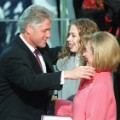 Bill Hillary Chelsea Clinton Inauguration RESTRICTED