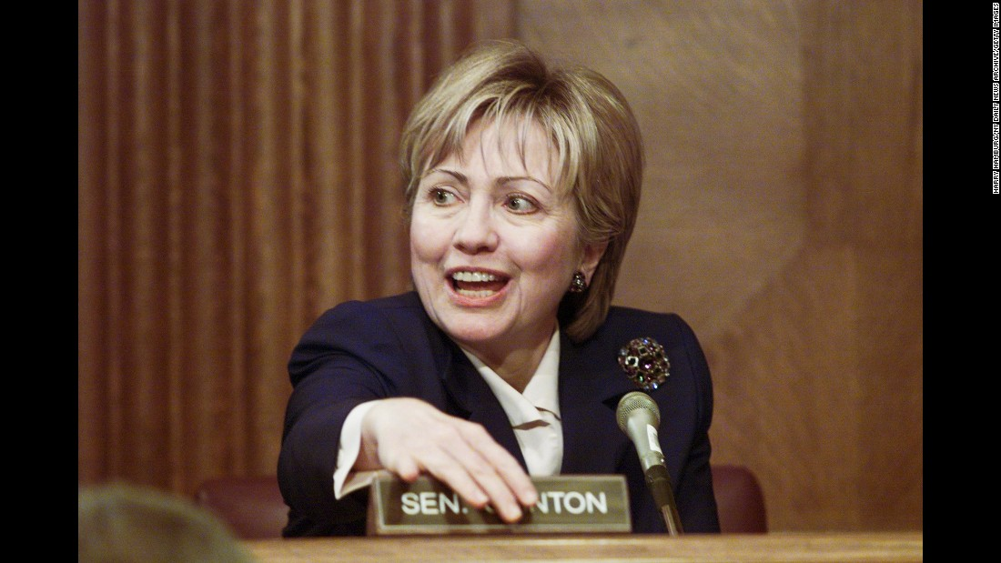 Clinton makes her first appearance on the Senate Environment and Natural Resources Committee.