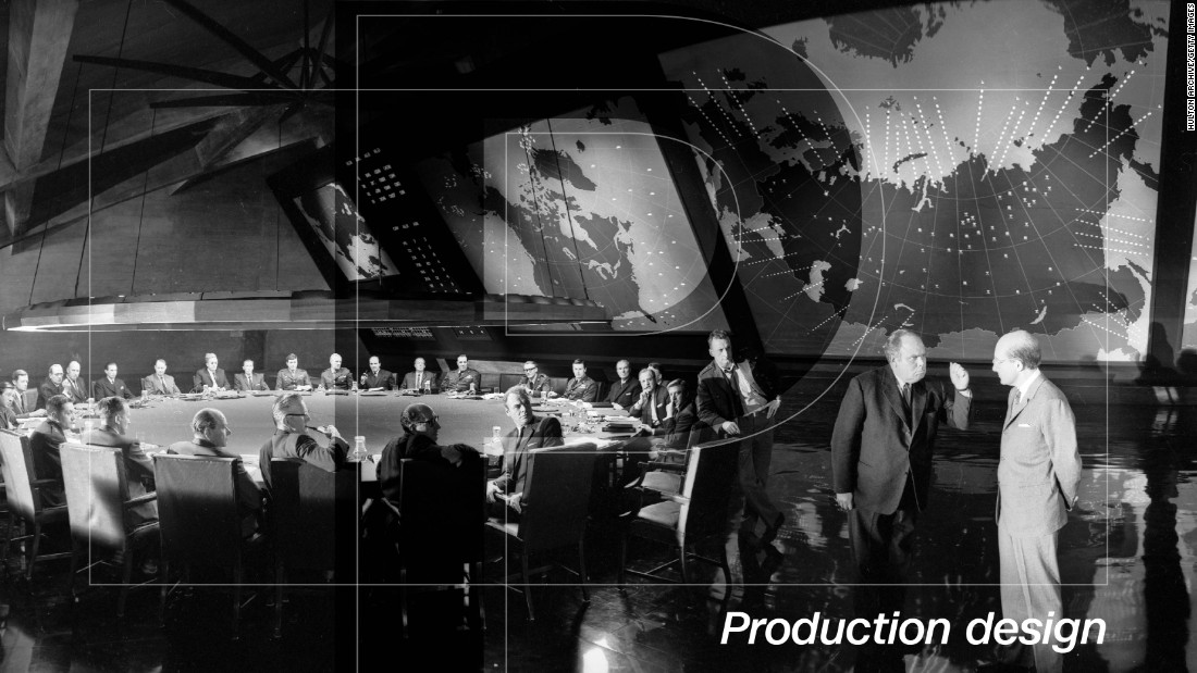 "The art of production design is a precious commodity today in an increasingly CGI-driven industry. It's hard to image what a computer-generated version of Ken Adam's war room in ""Dr Strangelove"" would have looked like, and luckily we don't have to. The set embodies all of the wonderful qualities of Kubrick's film: vast, preposterous and scathingly satirical of the escalatory nature of Cold War politics. Besides, would one of modern cinema's <a href=""https://www.youtube.com/watch?v=UAeqVGP-GPM"" target=""_blank"">greatest ever lines</a> have sounded as good if you knew it was set against a green screen?"