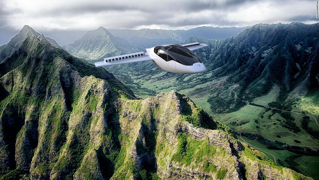 Lilium is a new ultralight two-seater electric plane concept, designed by four German engineers.