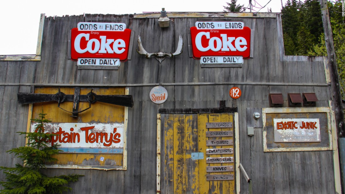 The old mining town of Hyder, Alaska, is located off the Cassiar Highway along the coast. As you pass through these former gold rush zones it's smart to carry extra gas. Stations can be separated by great distances and aren't always open in spring or winter.