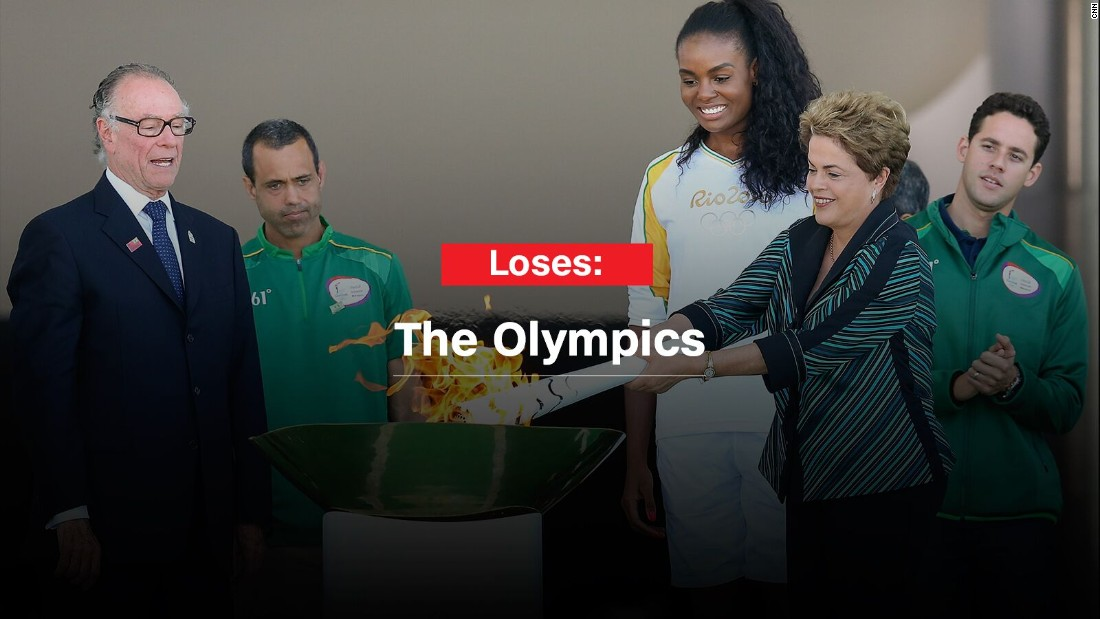 Rousseff, who lit the torch with the Olympic flame when it arrived in Brasilia, will not be part of any official host delegation during the Games. She could attend events as a spectator, though she might risk being booed.