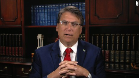 North Carolina governor defends bathroom law