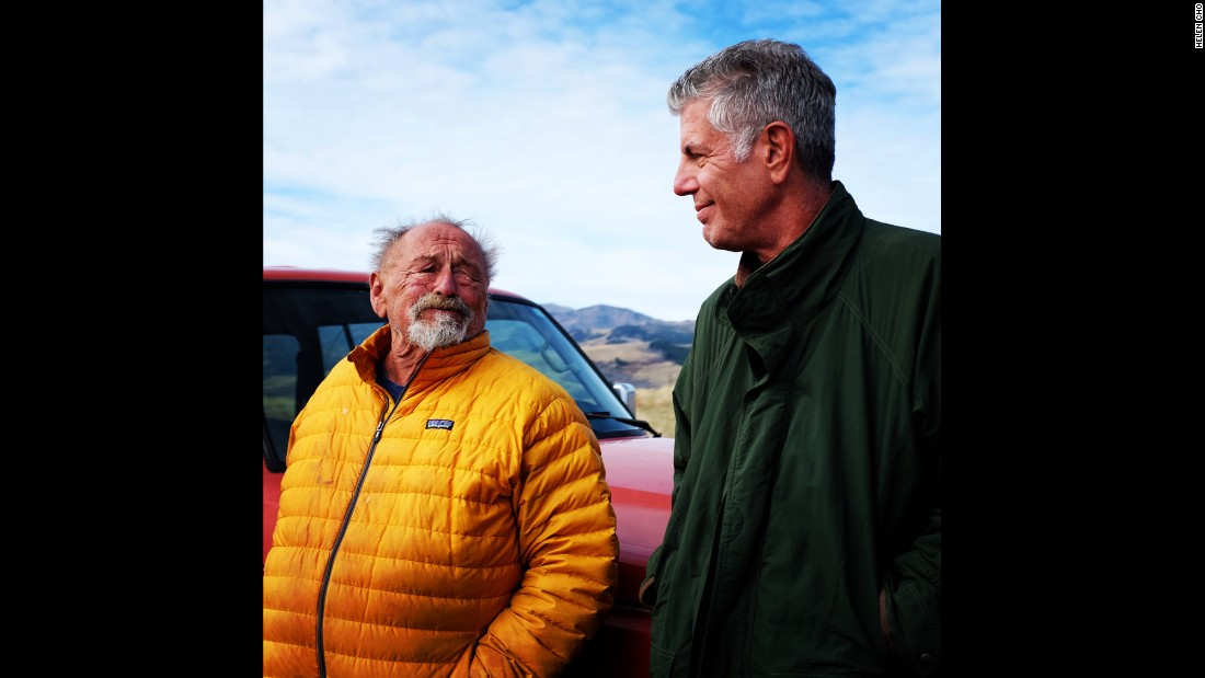 "Poet and author Jim Harrison showed Anthony Bourdain some of the marvels of Montana. Shortly after the filming of this episode, Harrison passed away. ""There were none like him while he lived. There will be none like him now that he's gone,"" Bourdain said."