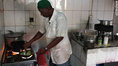 Mohamed Abdi has been working in the Oriental's kitchen for more than 10 years.