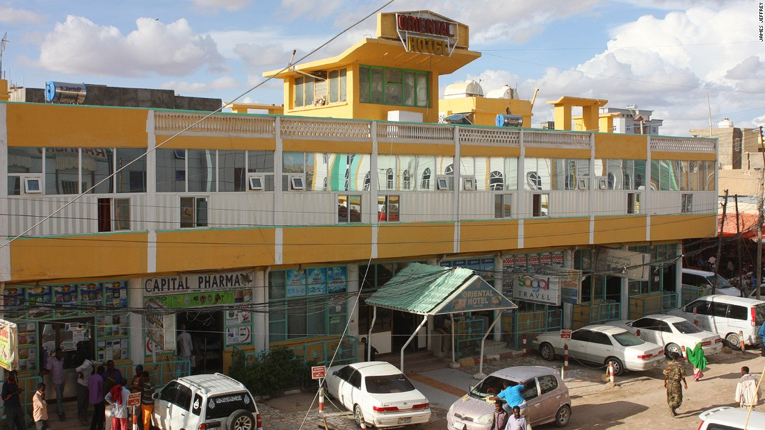 The frontage of Somaliland's, and quite possibly the Horn of Africa's, greatest hotel: the Oriental. This grand but weary rest stop oozes a charm often lacking in more upscale venues.