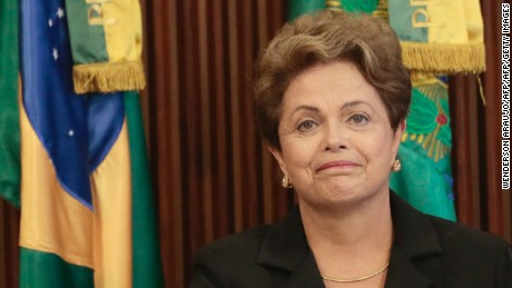 Brazil's President Dilma Rousseff  participates in the 16th meeting of the National Council for Industrial Development (CNDI), at Planalto Palace in Brasilia on February 09, 2015. AFP PHOTO / Wenderson Araujo        (Photo credit should read WENDERSON ARAUJO/AFP/Getty Images)