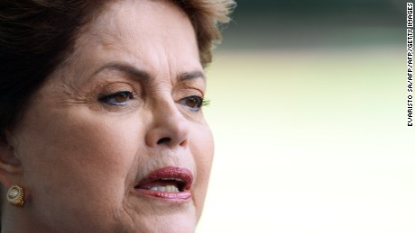 Brazil's President Dilma Rousseff, candidate of the Workers' Party (PT) for October's presidential election, speaks during a press conference at Alvorada Palace in Brasilia, on September 10, 2014. Rousseff will face the environmentalist Marina Silva, candidate for the Brazilian Socialist Party (PSB), and the Senator Aecio Neves, candidate for the Brazilian Social Democratic Party (PSDB). AFP PHOTO/EVARISTO SA        (Photo credit should read EVARISTO SA/AFP/Getty Images)