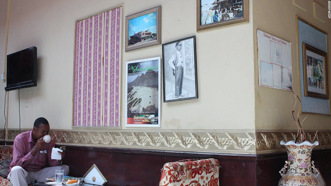 "A collection of photos and pictures give a short history of the hotel and Somaliland. Posters proclaiming ""Wonderful Somaliland, the newest tourist destination in Africa"" might not be entirely accurate, but they hint at what might be if Somaliland gains international recognition."