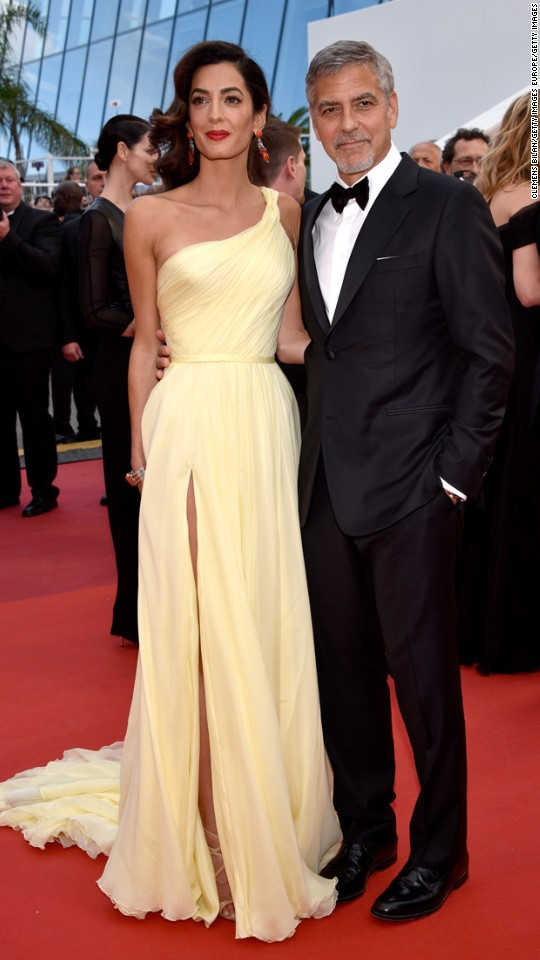 George Clooney and his wife, Amal
