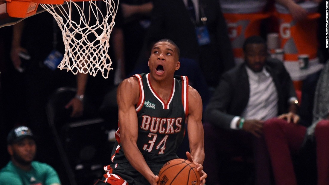 Antetokounmpo is a fierce dunker, and is set to join the NBA's scoring leaders in the coming seasons.