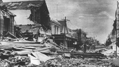 The New Zealand town of Napier was devastated by the Hawkes Bay earthquake in 1931.