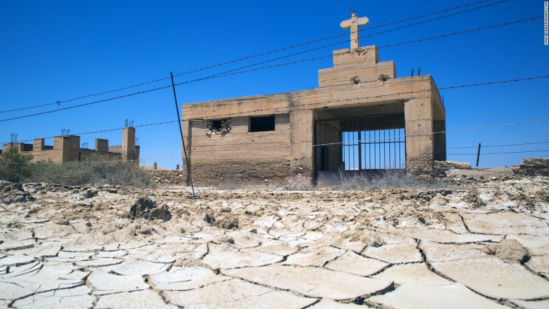 The remains of the Coptic church lie at the southern end of the site. The church's facade still bears the scars of the 1967 Six-Day War, which left up to 5,000 mines in the fields around it.