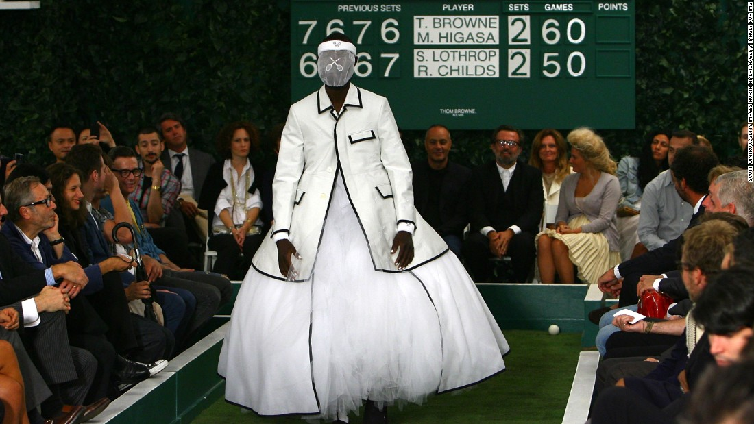 Known for his highly produced catwalk shows, American designer Thom Browne took on tennis (and tutus) for his Spring-Summer 2009 menswear collection.