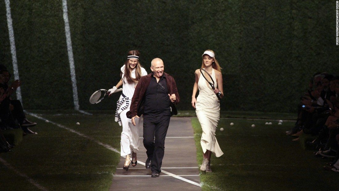 In 2009 Jean Paul Gaultier was designing for French fashion house Hermès. He put a tennis spin on the brand's classic silhouettes for this collection, reminiscent of the elegant style of 1920s and 30s female players.