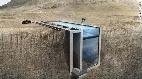 A house is being built inside a cliff, thanks to the internet