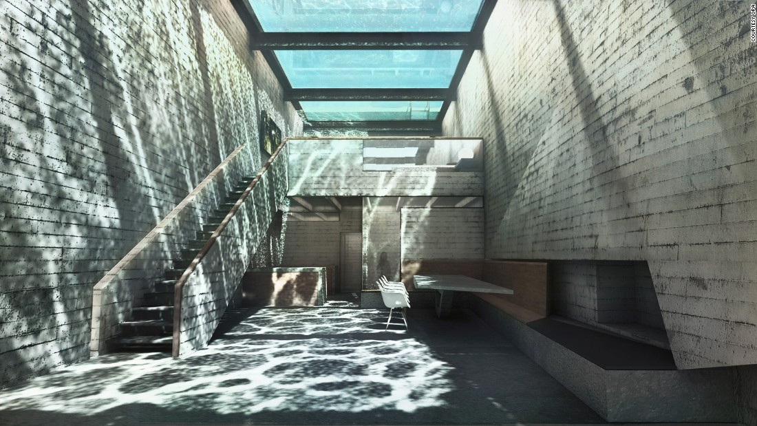 It will be topped by an infinity pool that doubles as a skylight.