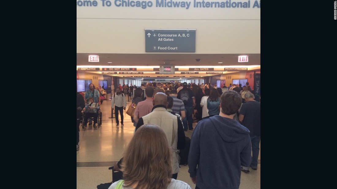 Siobhan O'Neill said the line at Chicago Midway International Airport looked really long on Thursday, but she was able to get through security in 40 minutes.