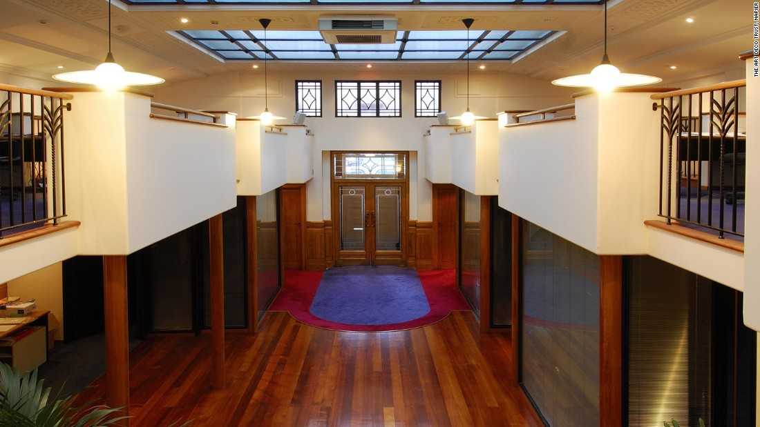 The interior of many of the town's iconic Art Deco buildings are as elaborate as their facades, like this foyer in the Daily Telegraph building.