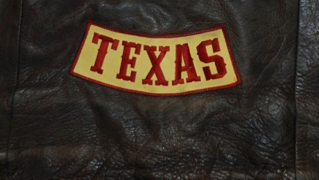 "The ""Texas bottom rocker"" patch, which may have set off the feud."