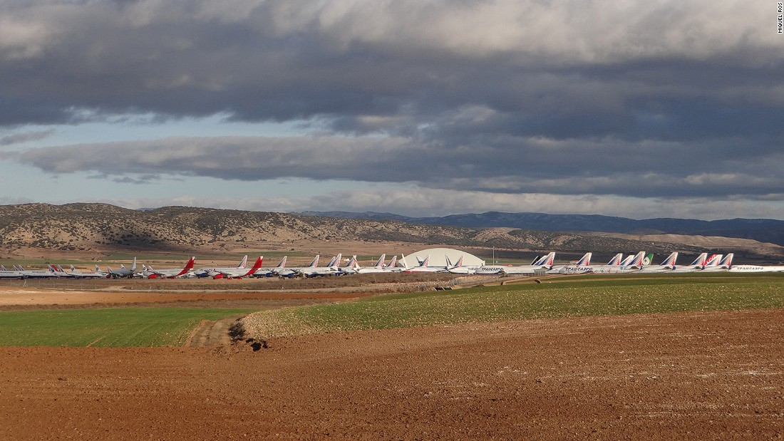 Teruel's arid climate is ideal for storing the aircraft with minimum deterioration. It's one of the few such facilities in the world.