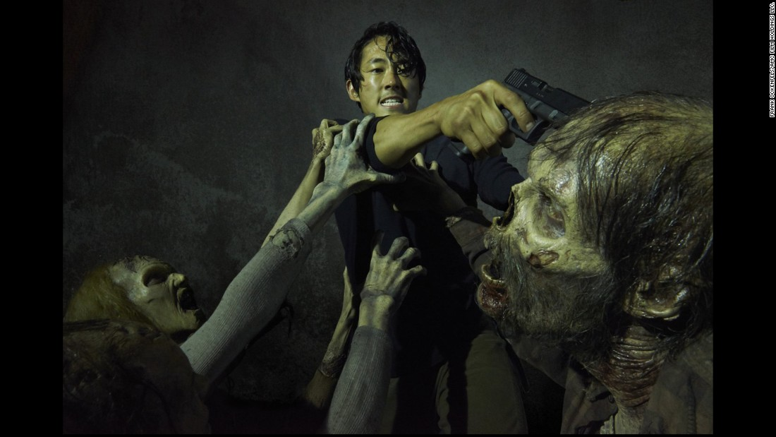 "Steven Yeun plays Glenn Rhee in AMC's ""The Walking Dead."" Fans of the show have been left wondering about his character's fate after the sixth season's cliffhanger finale."