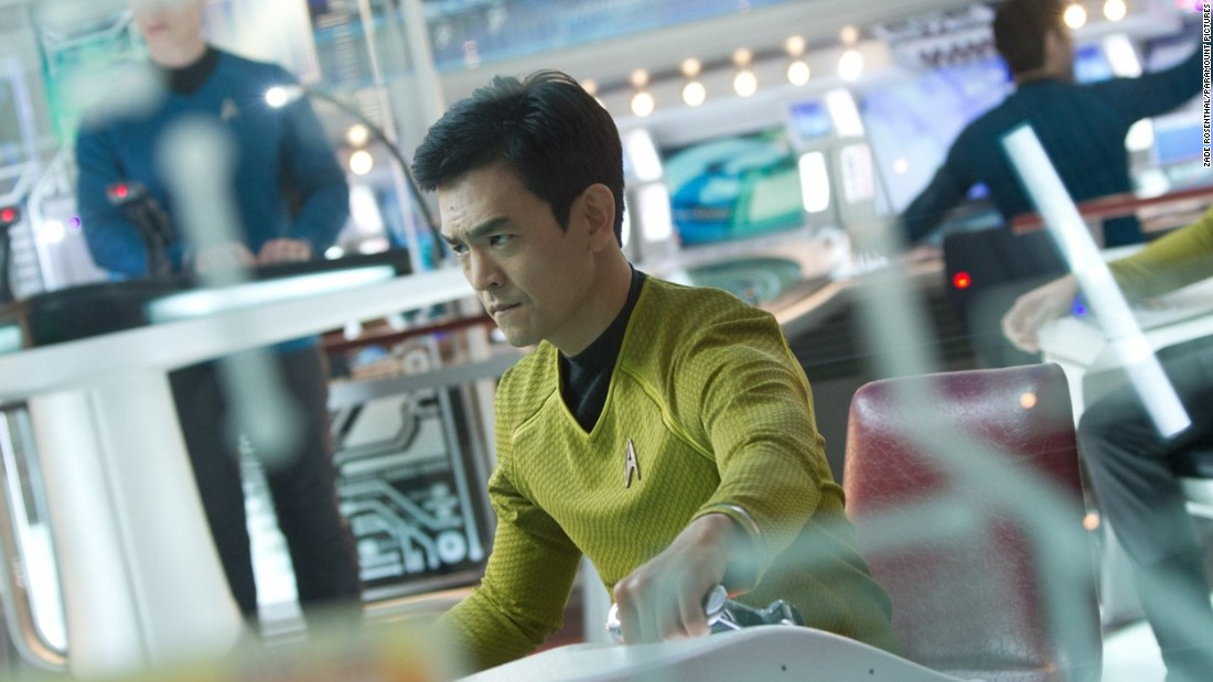 "John Cho, who plays Hikaru Sulu in the rebooted ""Star Trek"" movies, featured in the recent #StarringJohnCho online campaign. The campaign was launched by digital strategist William Yu to highlight ""the lack of representation of Asian-Americans in media."""