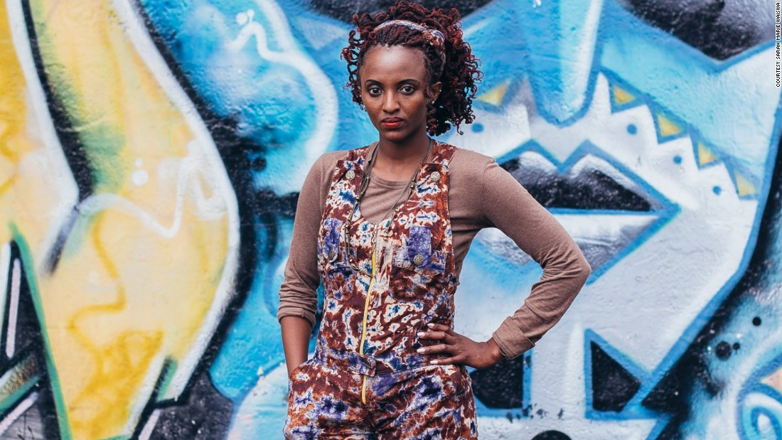 """Mitumba is a Swahili word for secondhand clothing. Secondhand clothes shopping is a key part of Nairobi's fashion scene. Flea markets are popular. """"there's a renaissance happening in Nairobi. the creative industry is doing extremely well and that's affective the fashion scene"""", says stylist Sunny Dolat in Fashion Cities Africa. <br />Pictured: Jacky James, performing artist"""