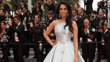 Mallika Sherawat, pictured at Cannes Film Festival, was in Paris visiting her boyfriend.