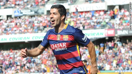 Luis Suarez scored a hat-trick as Barcelona sealed the La Liga title against Granada in May.