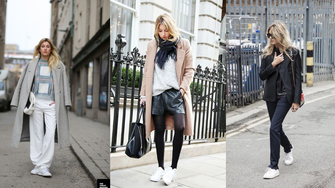 "Parisian stylist and blogger Camille Charriere has been credited with re-launching the tennis sneaker trend along with Celine creative director Phoebe Philo and Kanye West. Now she's bringing Lacoste back to the street style crowd too. ""I'm always very keen to reference sportswear as part of my daywear, because it's comfortable obviously... and looks great. I've started wearing polo shirts again."""