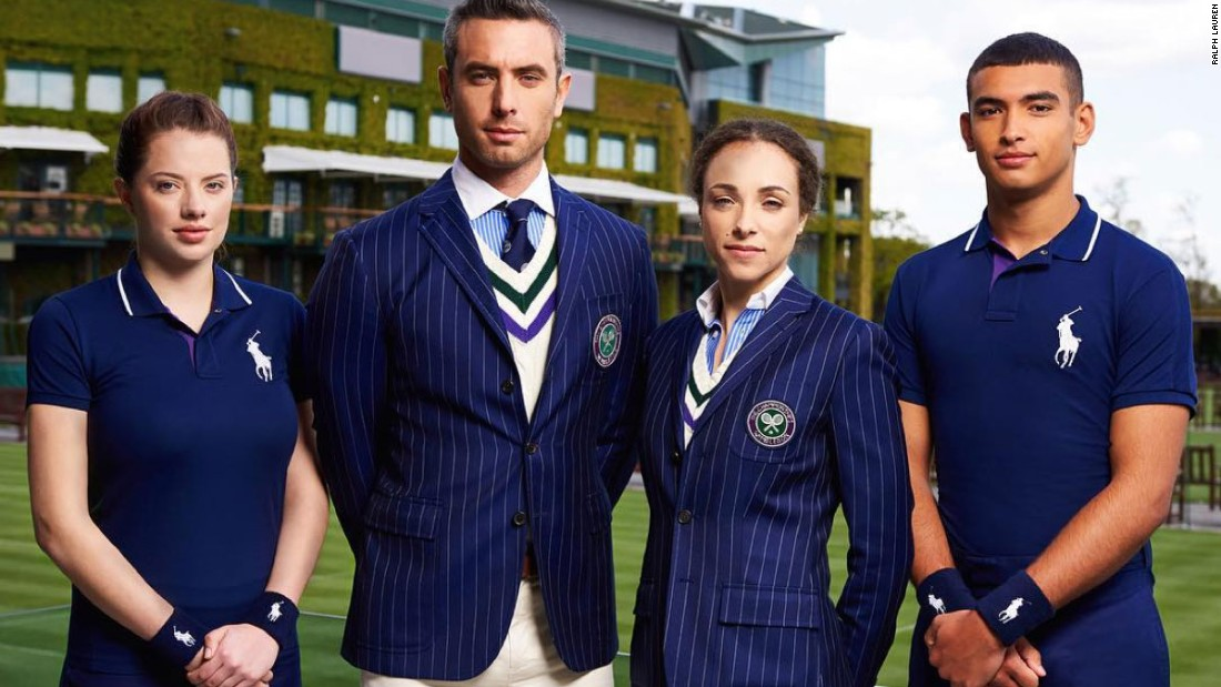 The classic American sportswear brand Polo Ralph Lauren's have been the official outfitters at Wimbledon since 2006. Umpires, ballgirls, linesmen: everyone will be in Ralph come July in London.