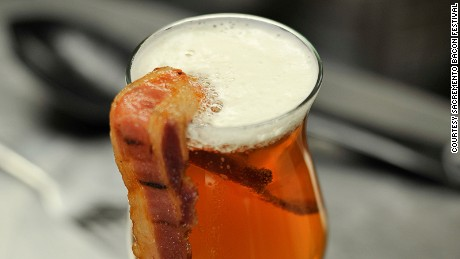 Bacon and beer: two of life's finest treats.