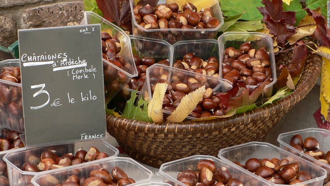 Ardeche is France's biggest producer of chestnuts, a status it celebrates with this annual festival.